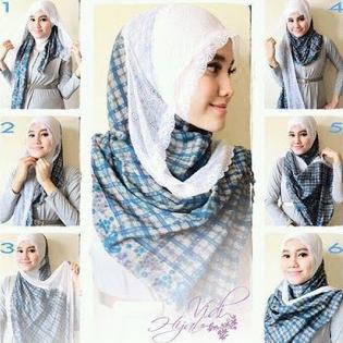 Gambar Tutorial Hijab Pashmina Casual