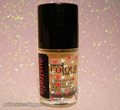 Australis Speck-tacular rainbow flakie nail polish.