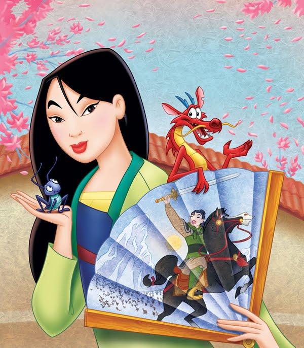New Cartoon Doodles Free Disney Princess Mulan Desktop Wallpaper