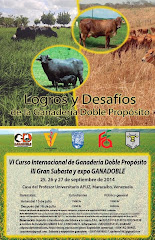 VI CURSO INTERNACIONAL DE GANADERIA DOBLE PROPOSITO