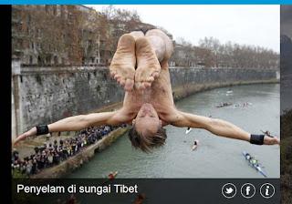 inovLy Media : Penyelam di sungai Tibet