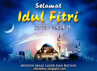 Kata Mutiara dan Kata Ucapan Lebaran Idul Fitri 2013 - 1434 H