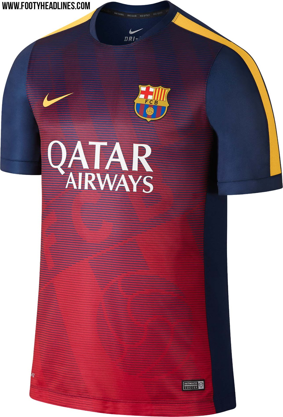 new fc barcelona 2015 training and pre match shirts released footy headlines. Black Bedroom Furniture Sets. Home Design Ideas