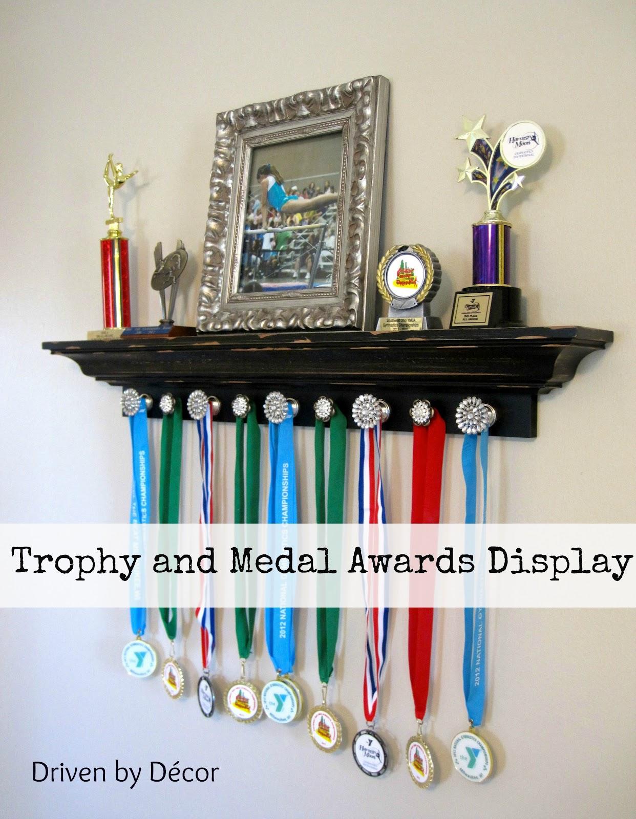 DIY Trophy and Medal Display Shelf