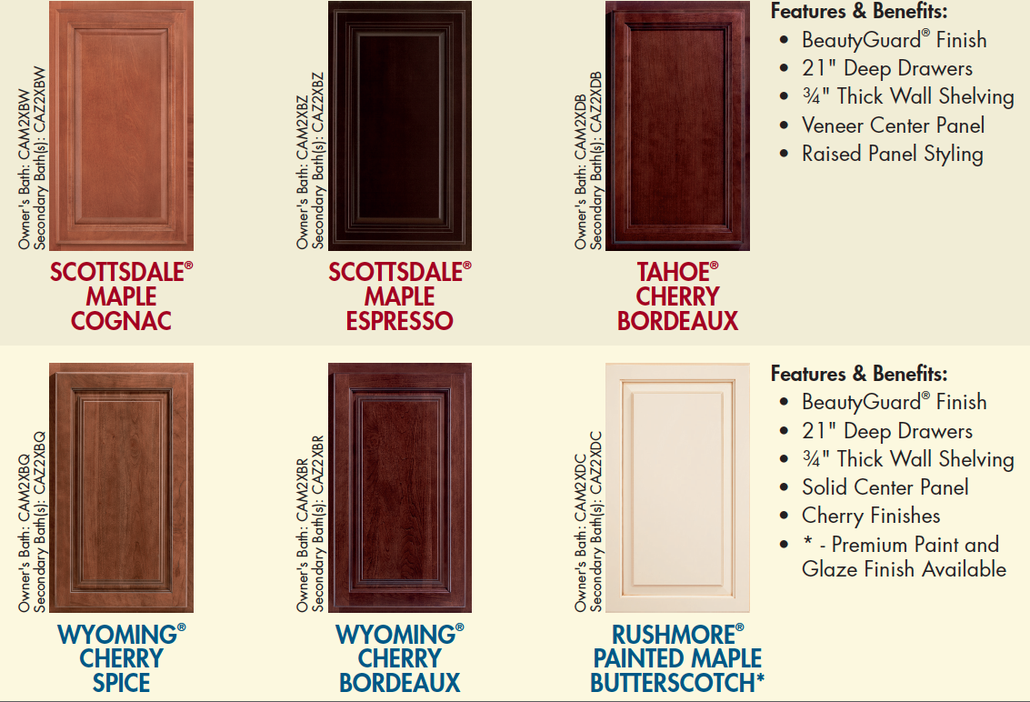 Ryan homes cherry bordeaux kitchen cabinets with santa for Cherry vs maple kitchen cabinets
