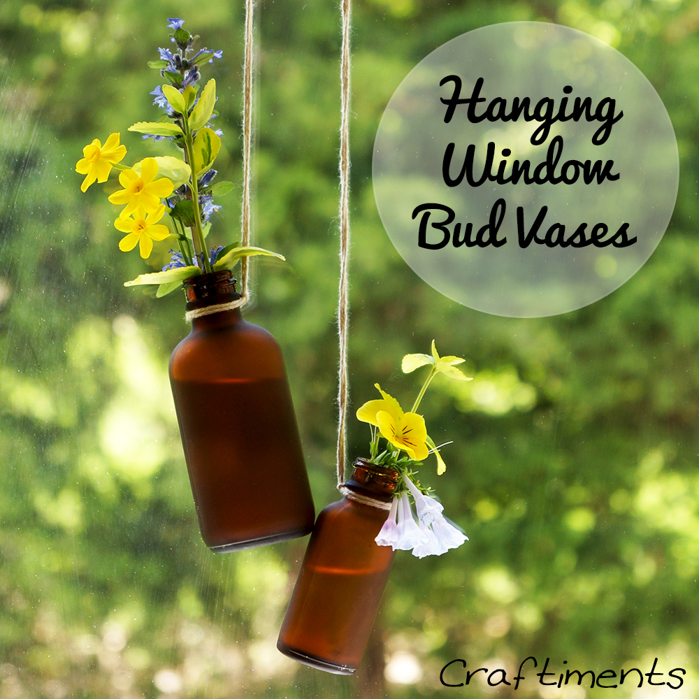 Craftiments:  Hanging Window Bud Vases