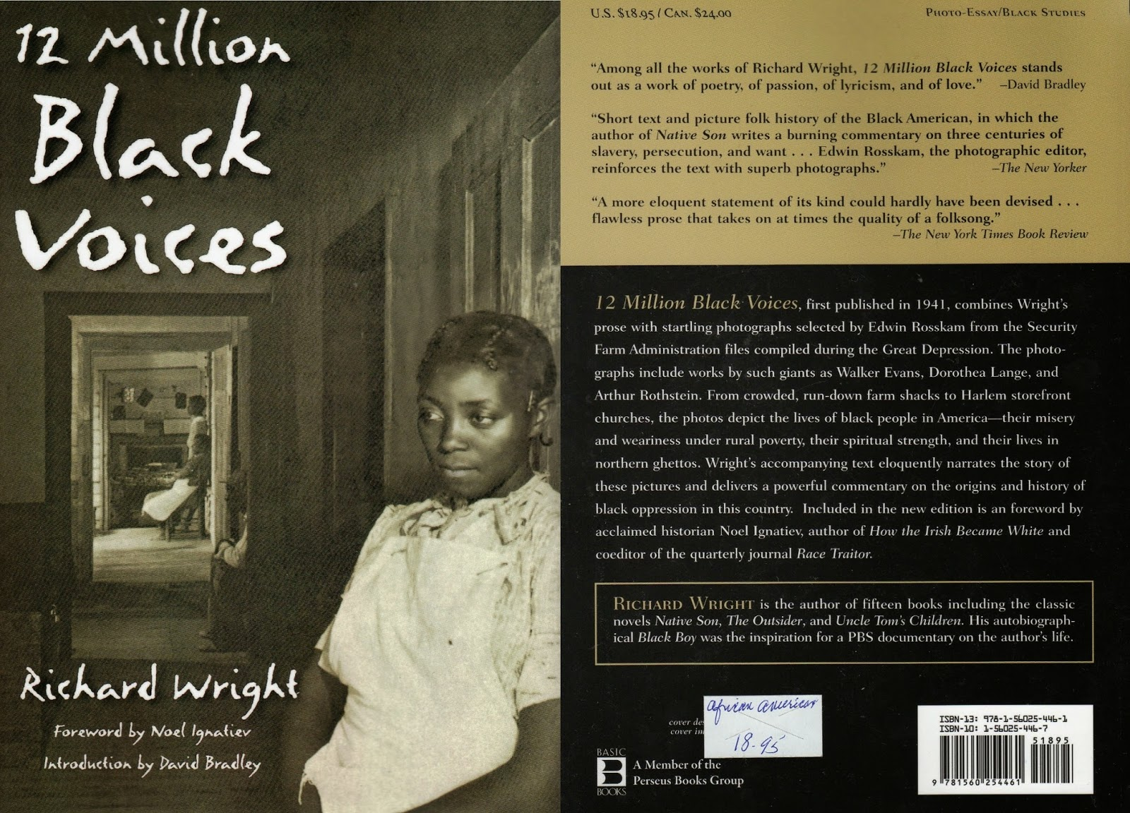 richard wright 12 million black voices Chapters 10-12 chapter 13  but an allusion to part 3 of richard wright's 12 million black voices, a pictorial history of black america published in 1941, the .