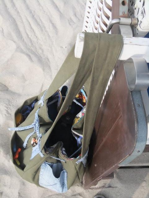 Strandtasche recycelt aus Jeans