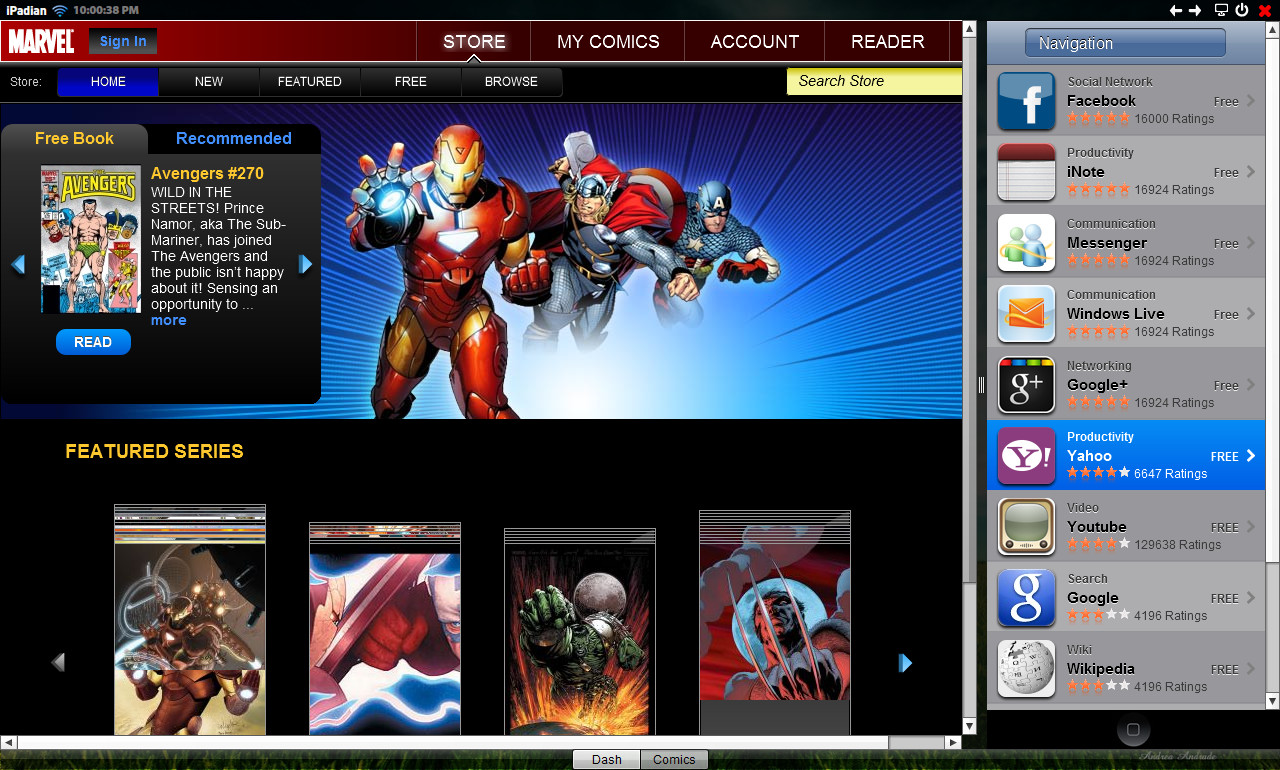 Standalone Adobe air application Full Screen preview Custom App Store ...