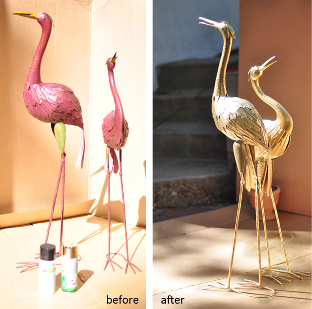 DIY Brass Birds Figurines
