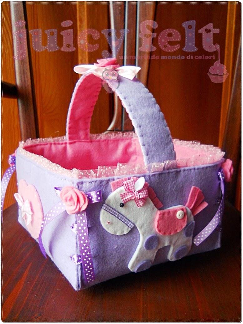 Molto Per Viola un fiocco nascita e un cestino portaconfetti (aspettando  KR65