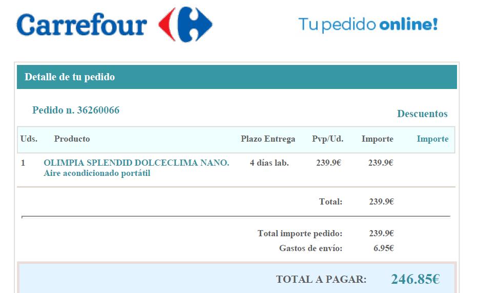 Aires portatiles carrefour intereses por centros for Piscinas portatiles carrefour