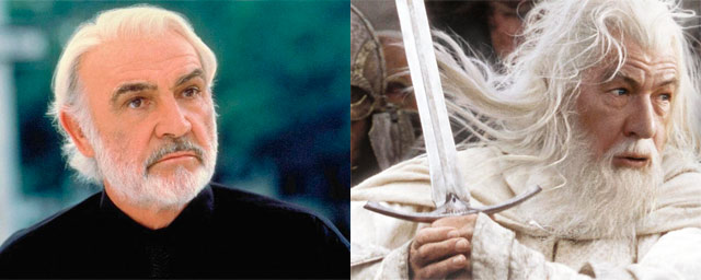 Sean Connery como Gandalf (The Lord of the Rings)