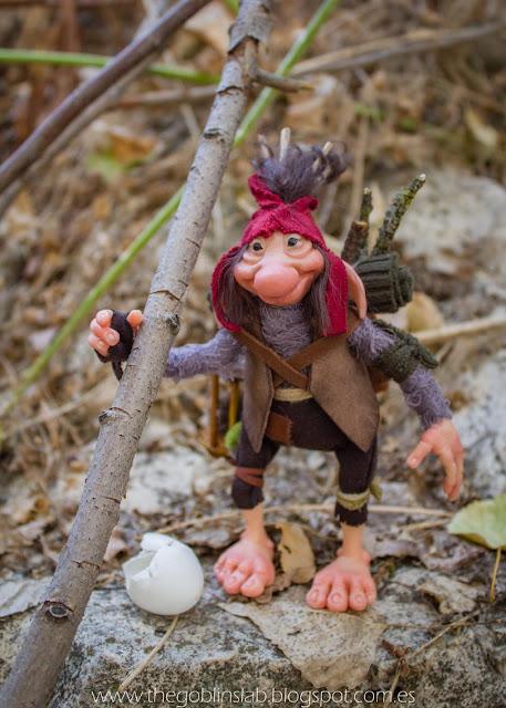 goblin artesanal hecho a mano ooak criatura fantástica