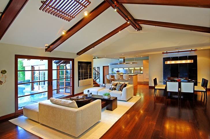 Living room in Calvin Harris's new celebrity house