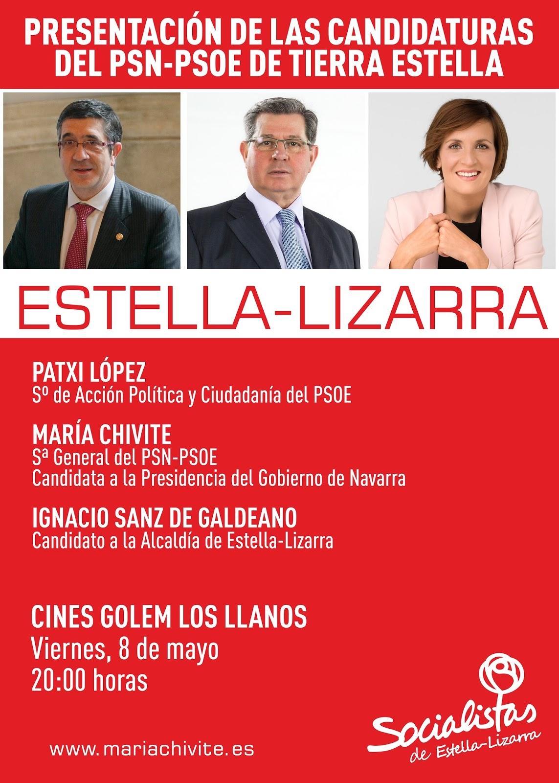Presentación Candidaturas PSN-PSOE Tierra Estella