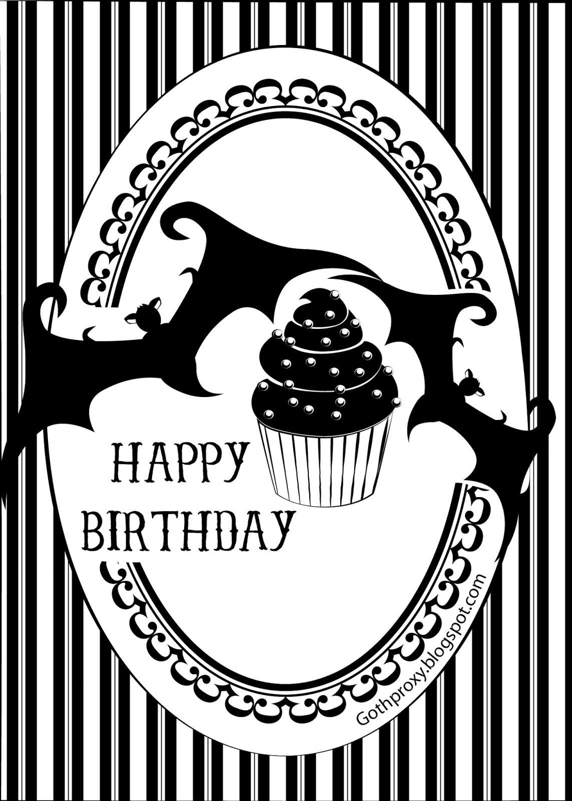 Goth proxy its my birthday today a birthday card that you can give to who ever youd like on their birthday feel free to print it out and give it to people bookmarktalkfo Gallery