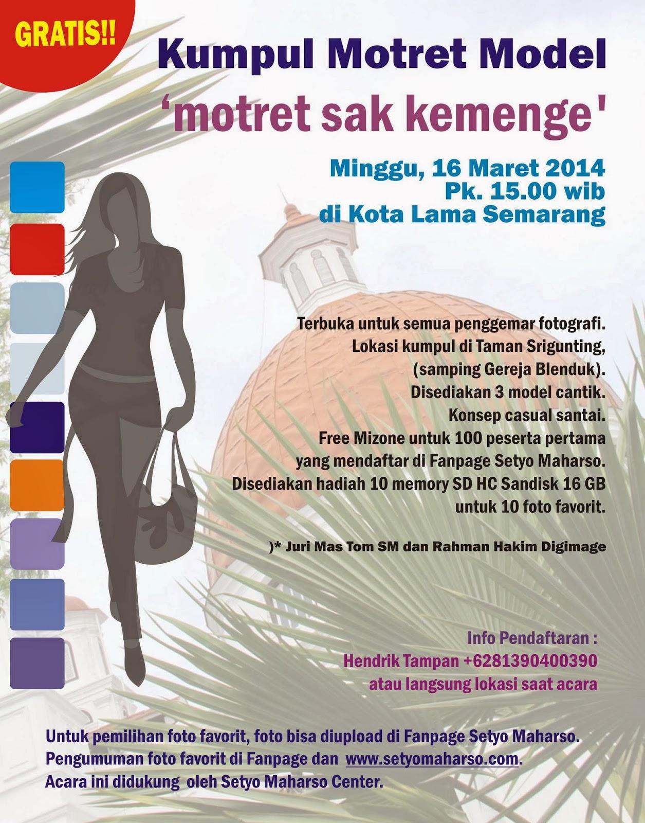 Motret Bareng Model Cantik di Kota Lama Semarang