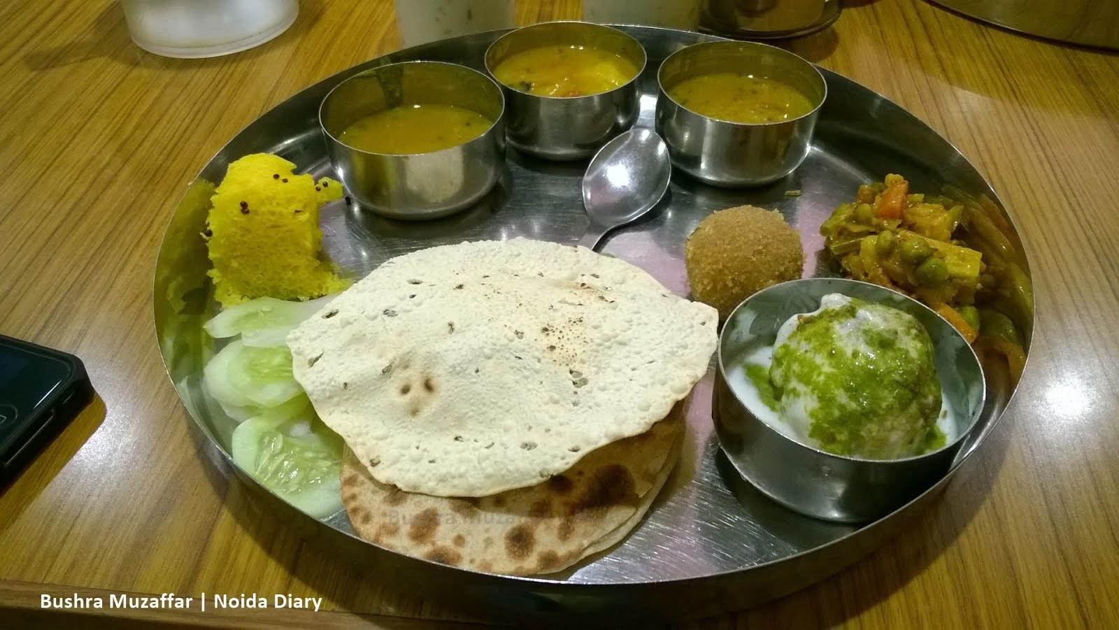 Noida diary authentic gujarati food at gujarat bhawan delhi for Authentic cuisine