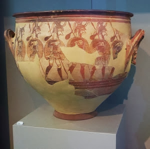 Warriors Vase
