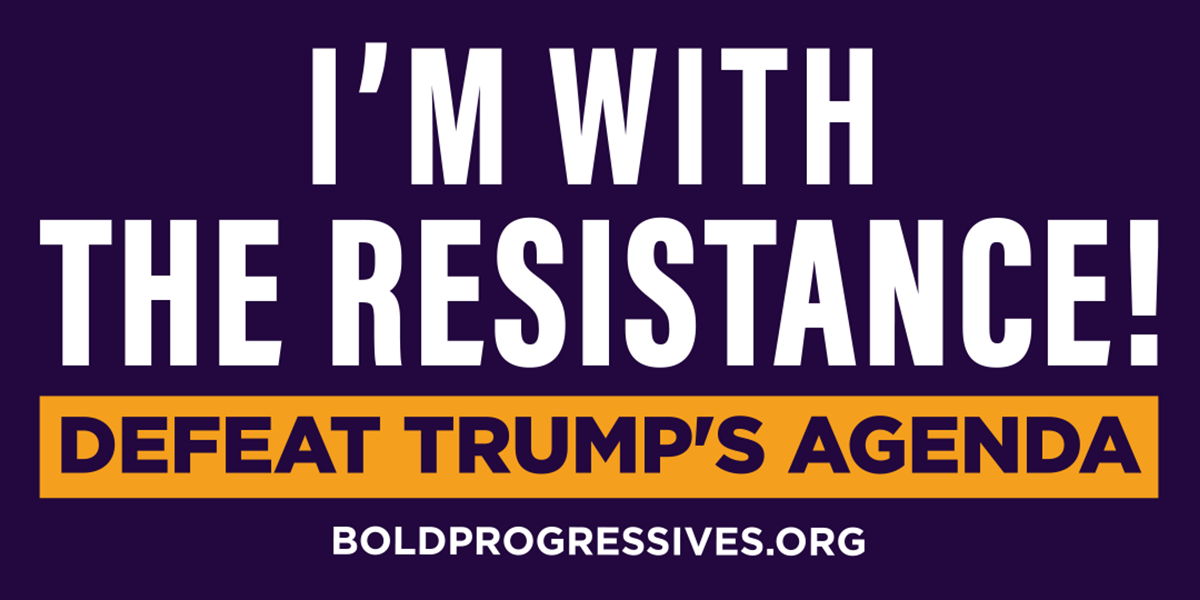 I'm with the resistance!