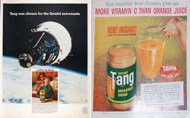 Anúncios americanos da década de 1960 traziam pote de vidro em destaque e faziam referência a astronautas