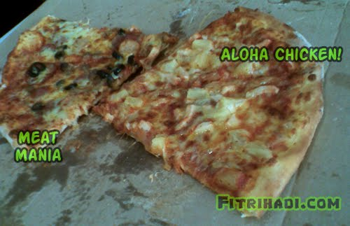 aloha chicken meat mania domino piza pizza