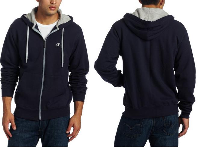 navy champion eco fleece hoodie