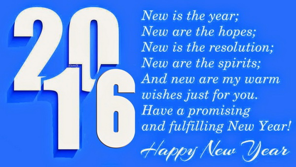 Happy New Year Facebook Status Message 2016