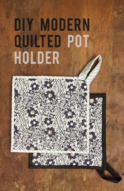 DIY modern quilted pot holder | Lovely and Enough