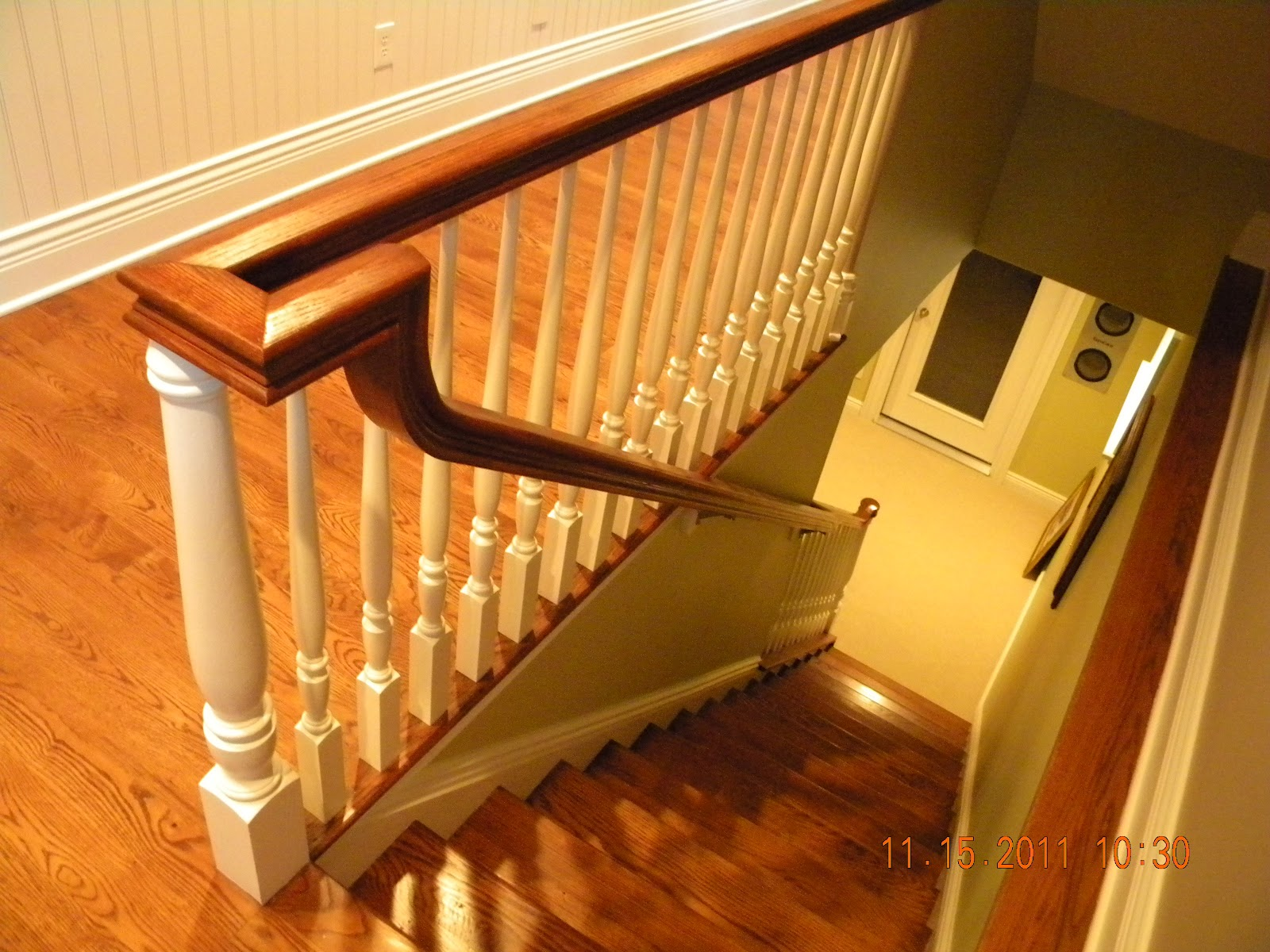 wood stairs and rails and iron balusters wood handrail. Black Bedroom Furniture Sets. Home Design Ideas