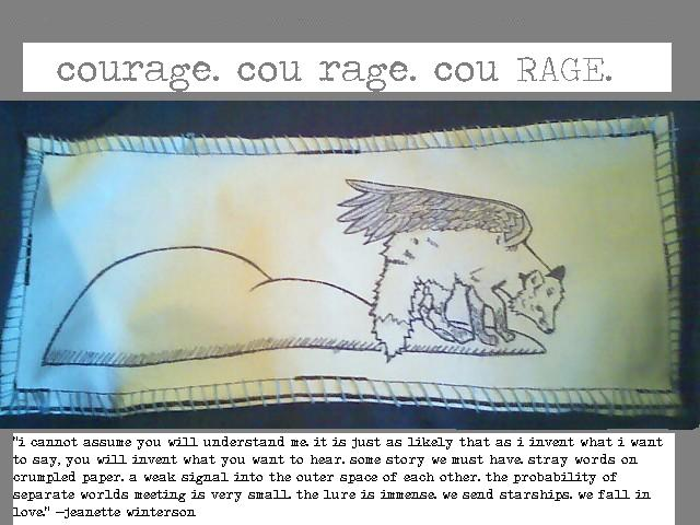 courage. cou rage. cou. RAGE.