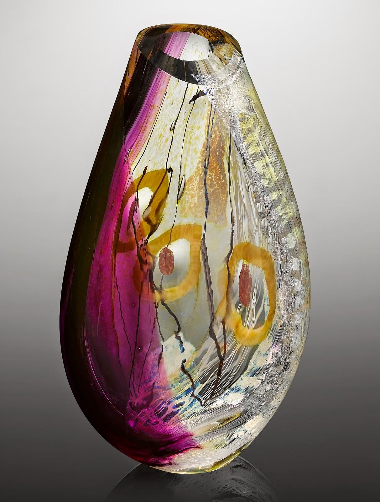 Contemporary art glass sculpture Handmade in Vermont USA