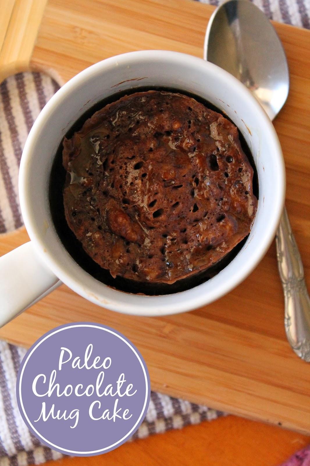 Paleo Chocolate Mug Cake via @LABride
