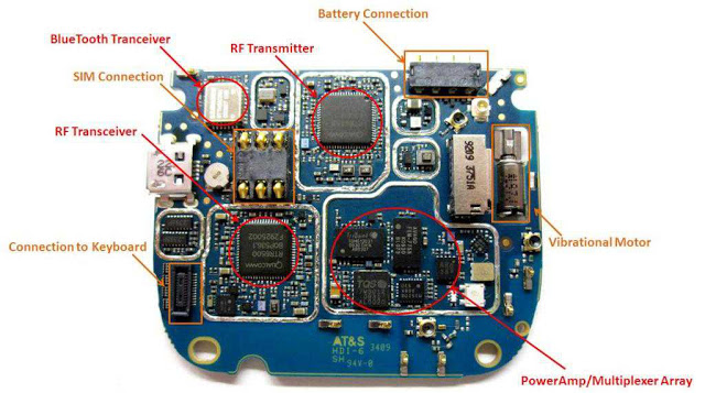 Electronics Circuit Application : Blackberry Tour 9630 PCB Schematic