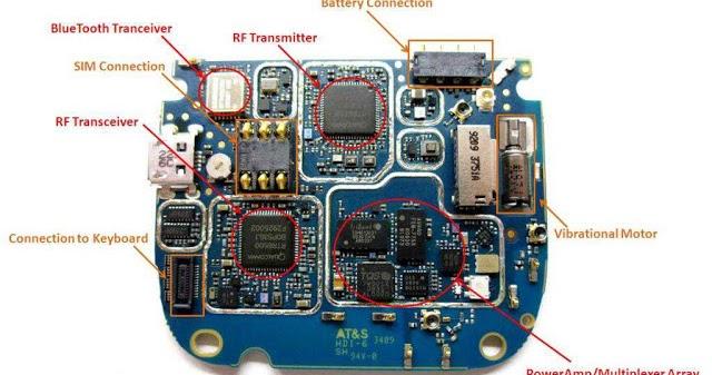 Electronics Circuit Application   Blackberry Tour 9630 Pcb