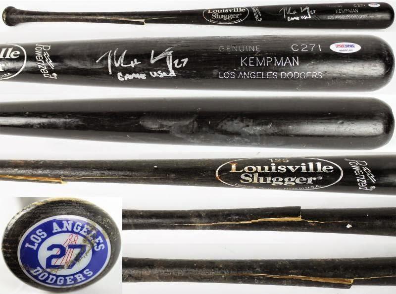 Kemp Autographed a Matt Kemp Autographed