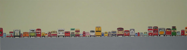 cars,coches,paint,painted,autobus,camion,bus,truck,red,orange,apilar,row,fila,Jeremy Dickenson