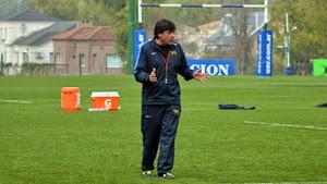 El Head Coach de Los Pumas, Daniel Hourcade.