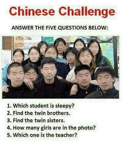 Chinese Challenge : Answer the five Questions below