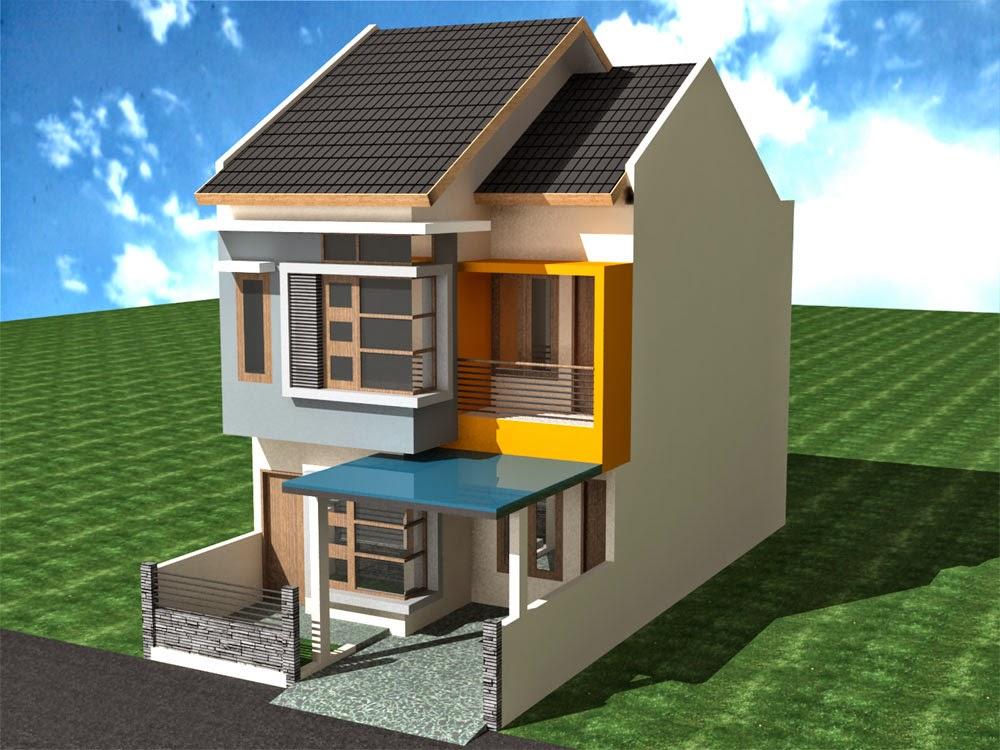 Contoh Gambar Desain Rumah Mungil 2 Lantai Sederhana