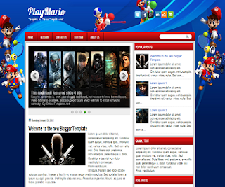 PlayMario+Blogger+Template