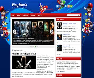 PlayMario+Blogger+Template