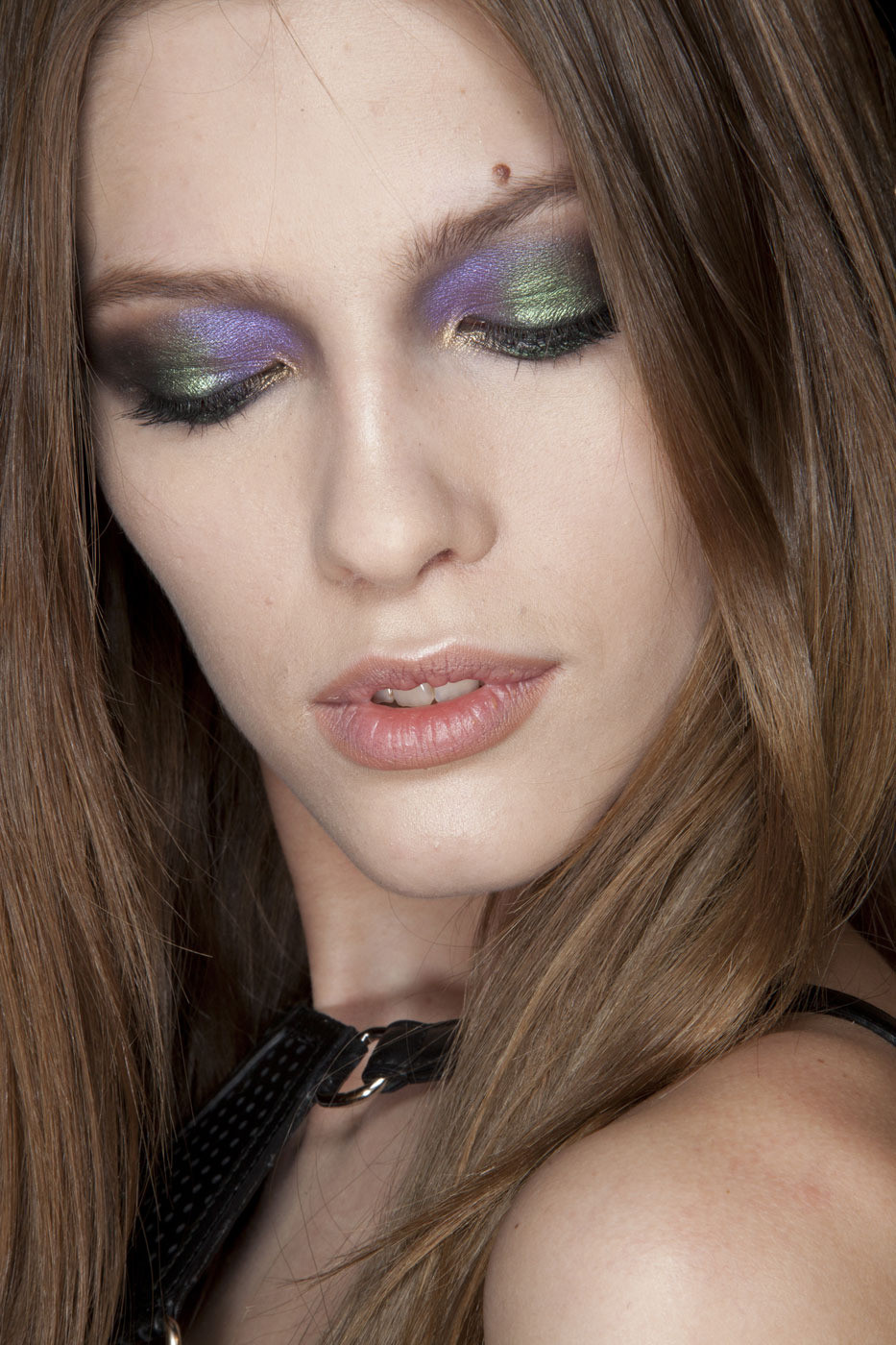 make-up details backstage at Roberto Cavalli Fall/Winter 2012 via fashioned by love / british fashion blog