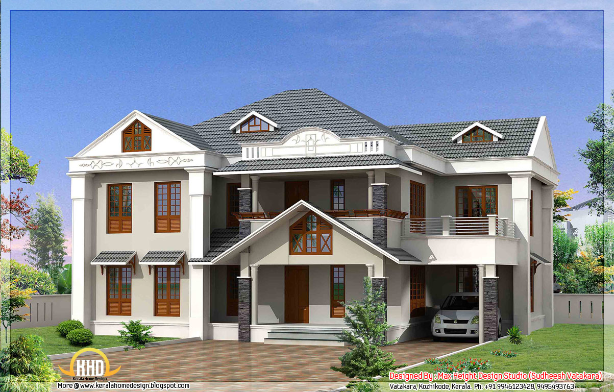 7 beautiful kerala style house elevations indian house plans for Kerala style home designs and elevations