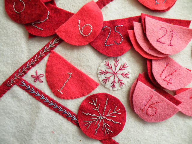Felt, applique and hand embroidery