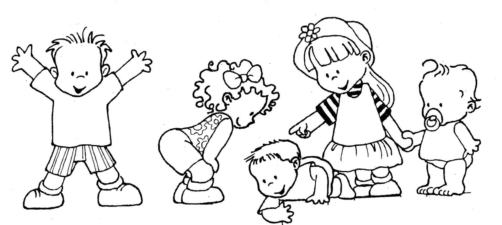 Dibujos del dia del Niño para colorear