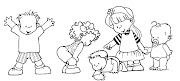 Dibujos del dia del Niño para colorear dia del ni