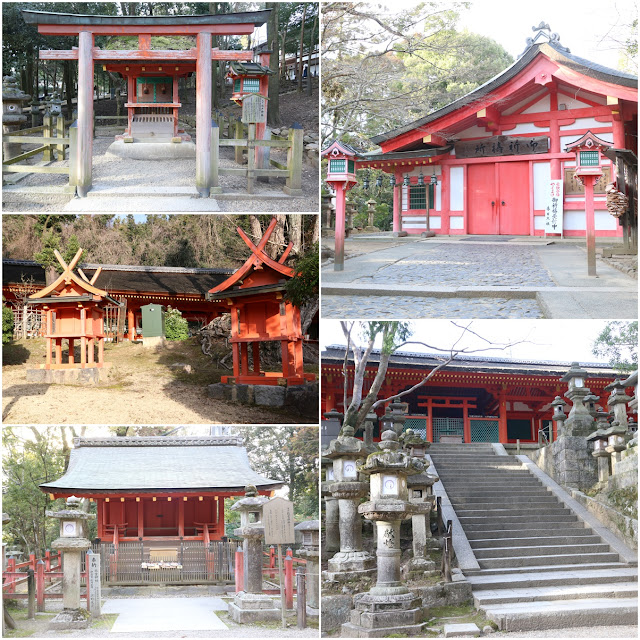 Shrine temples are located along the pathway towards Kasuga-Taisha Temple in Nara Park, Japan
