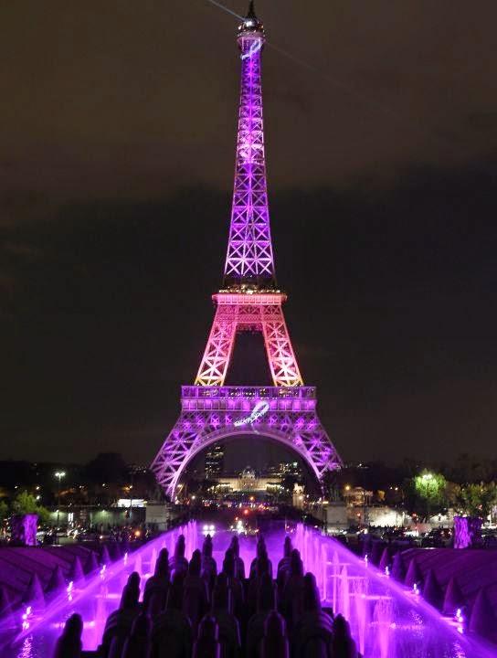 Le monde d aujourd hui la tour eiffel en rose pour l op ration octobre rose - Prix pour monter a la tour eiffel ...